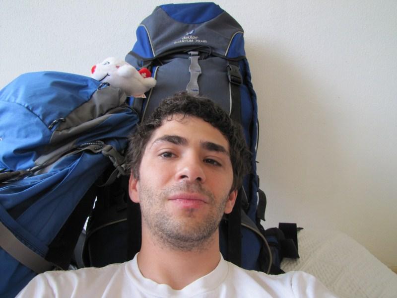 Ich und meine 25 kg Reisegepäck
