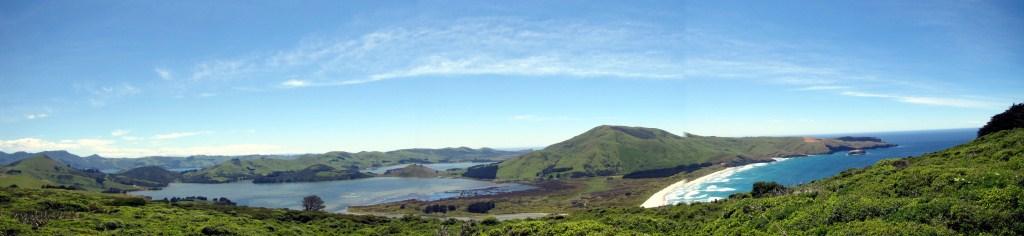 Panorama der Otago Halbinsel